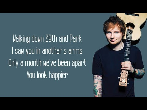 Happier - Ed Sheeran (Lyrics)