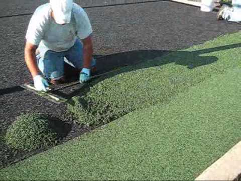 Rubber Ground Installed in Playground - YouTube