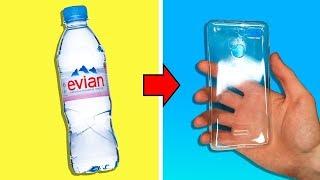 как сделать телефон из бутылок