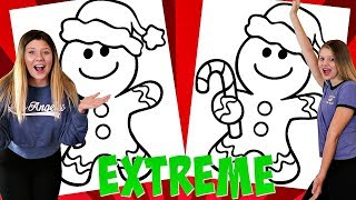 Extreme 3 Marker Challenge | Gingerbread Man | Taylor and Vanessa