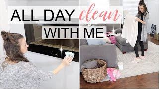 WHOLE HOUSE CLEAN WITH ME // ALL DAY CLEAN // CLEANING MOTIVATION // Simply Allie