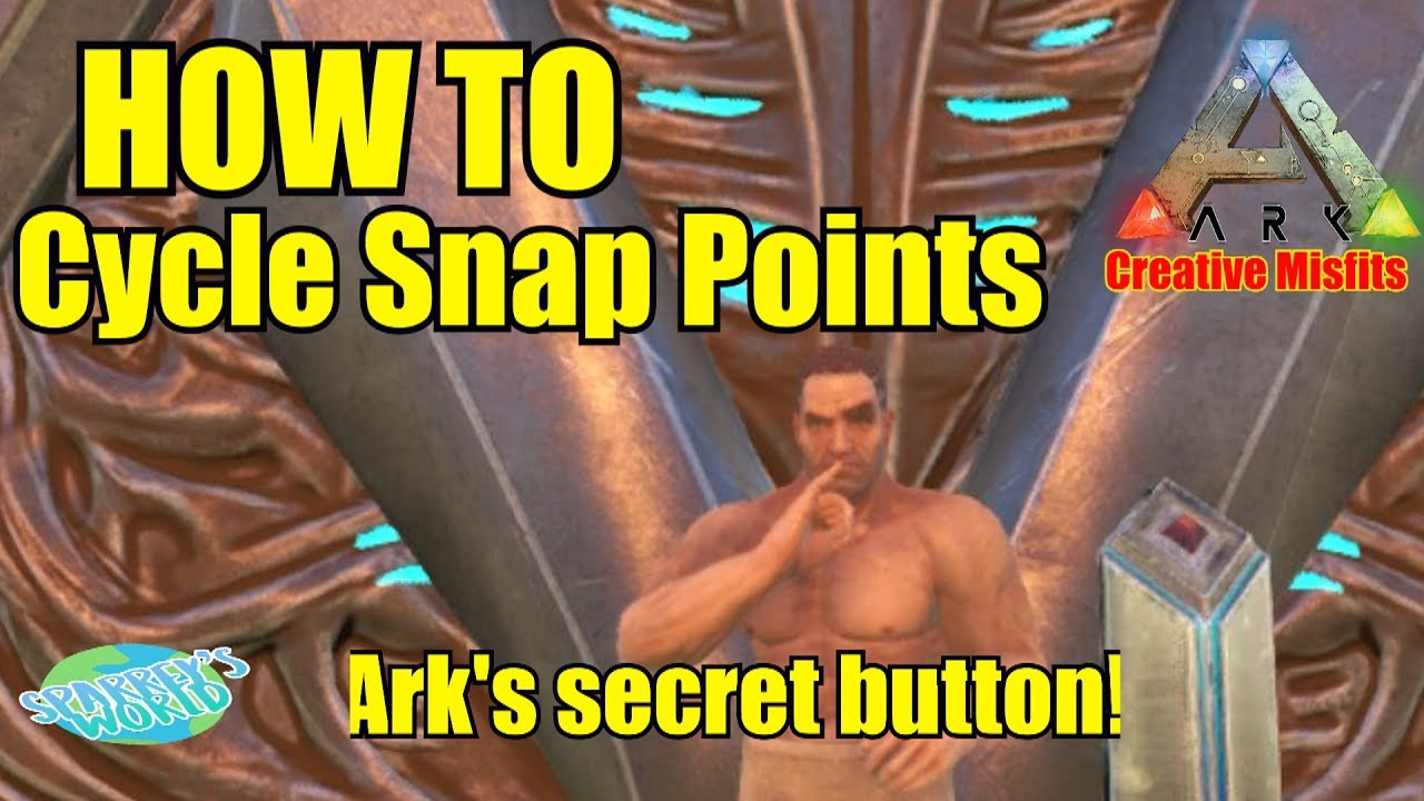 Ark Survival Evolved Best Building Tip Cycle Snap Points Youtube