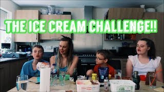 THE ICE CREAM CHALLENGE! (HE THROWS UP!!)