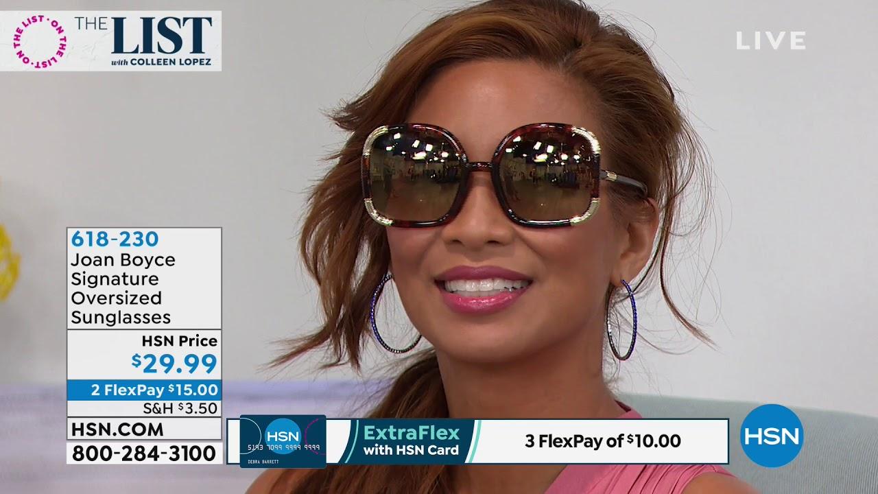 302ef2e17ddc Joan Boyce Signature Oversized Sunglasses - YouTube