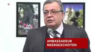 Смотреть видео ПОСТАНОВОЧНОЕ УБИЙСТВО посла России в Турции | FAKE the murder of the Ambassador of Russia онлайн