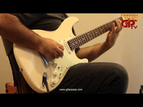 Blade Texas Standard Pro RoseWood Elektrik Gitar - Vintage White