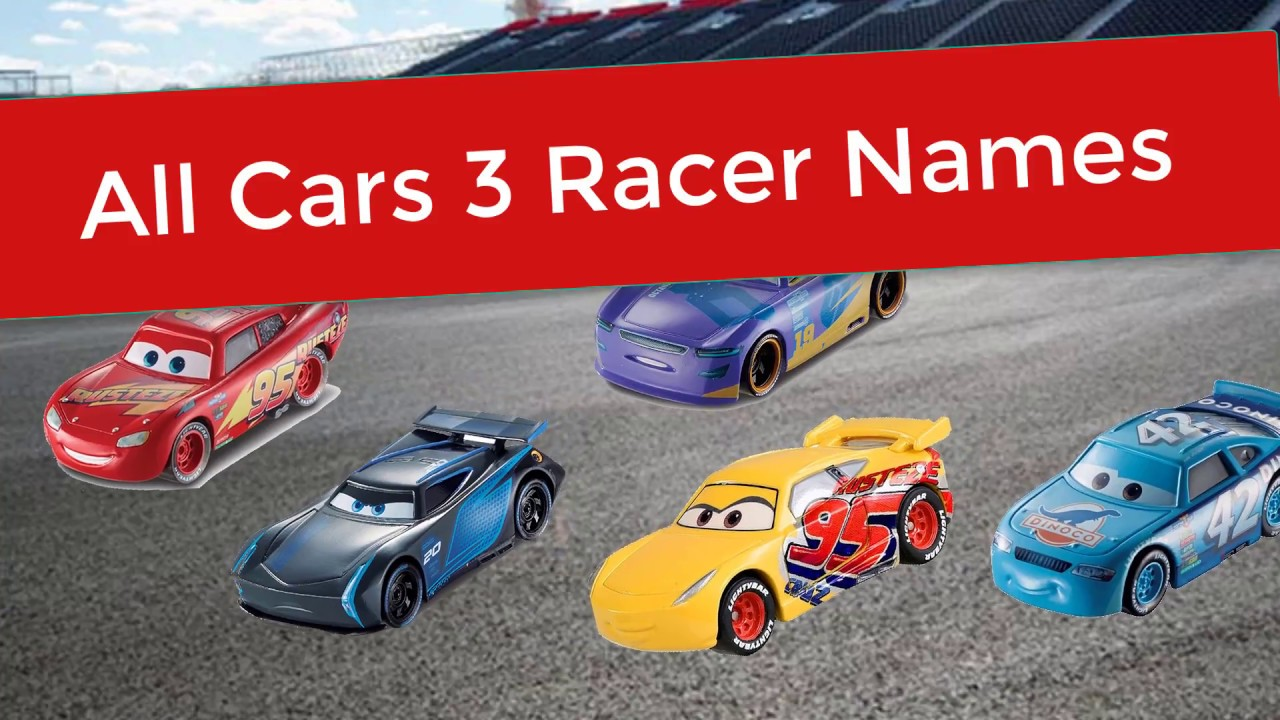 What Are The Names Of All Disney Cars 3 Characters Disney Car 3