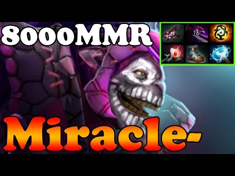 Dota 2 - Miracle- 8000MMR Plays Dazzle MID - Pub Match Gameplay