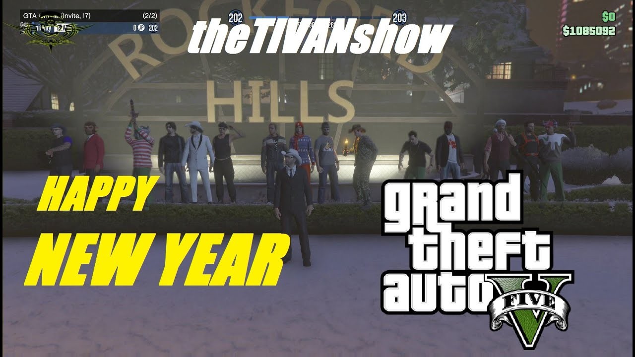 GTA5 - HAPPY NEW YEAR EVERYONE - RACING WITH FRIENDS