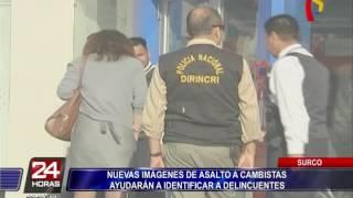 Cámara de seguridad registró violento asalto a cambista en Surco