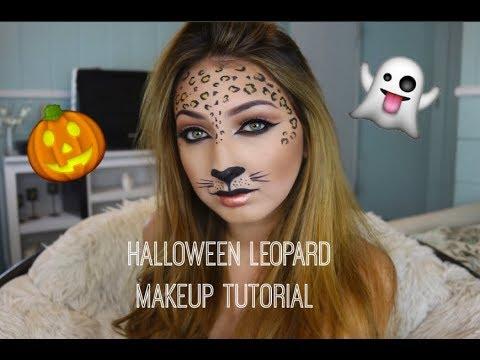 easy fast halloween makeup leopard makeup 2017