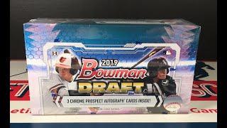 Gambar cover 2019 Bowman Draft Jumbo Hobby Box Break w/ 3 Autos & Tons of Parallels