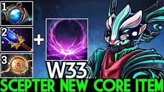 W33 [Outworld Devourer] Imba Scepter New Core Item One ULT Kill 7.23 Dota 2