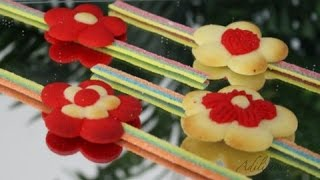 Piped Flower Cookies | Eggless