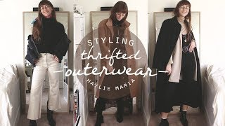 Styling Thrifted Outerwear for Winter \\ Haylie Maria
