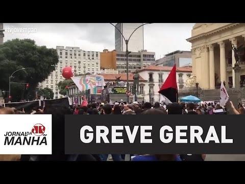 Greve geral mobiliza diversos manifestantes no Rio de Janeiro | JP Notícias
