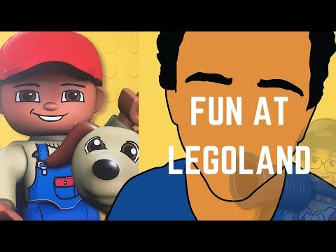 KIDS HAVING CRAZY FUN AT LEGOLAND. RIDES AND FAST LEGO CARS, ZOOM, ZOOM!
