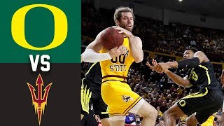 #14 Oregon vs Arizona State Highlights 2020 College Basketball