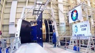Orion ESM Solar Array Deployment Test thumbnail
