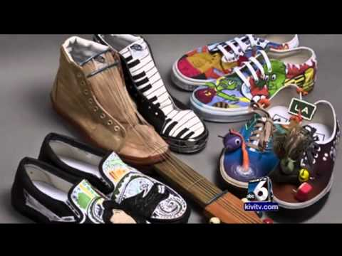 Pimp our shoes: Mountain View art class designs a top contender for $50K