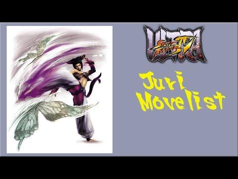 Ultra Street Fighter IV - Juri Move List