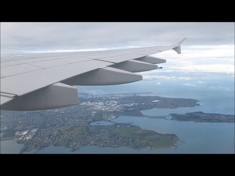 Airbus A380 Auckland Airport landing