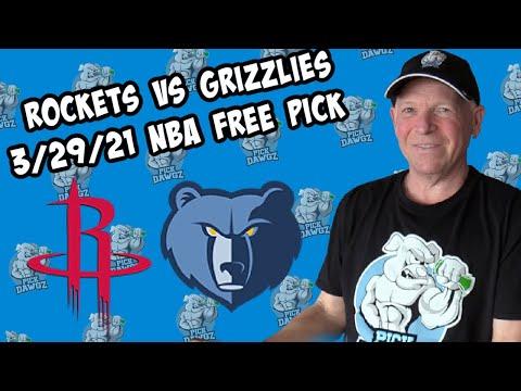 Houston Rockets vs Memphis Grizzlies 3/29/21 Free NBA Pick and Prediction NBA Betting Tips