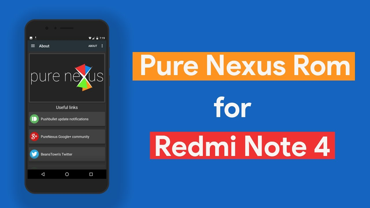 [mido]Pure Nexus ROM 7 1 2 for Xiaomi Redmi Note 4 Features Review