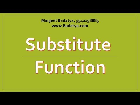 Getting Last Name or Numbers using SUBSTITUTE TRICK2