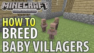 Minecraft Xbox 360 - How to Breed BABY VILLAGERS (Title Update 12)