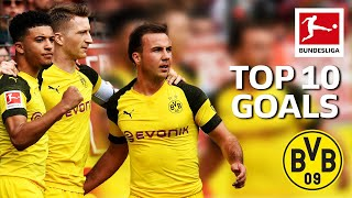 Top 10 Goals Borussia Dortmund 2018/19 - Sancho, Alcacer, Reus & More