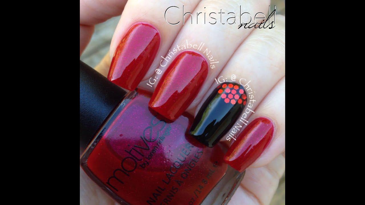 ChristabellNails -- Motives Cosmetics Ruby Slipper