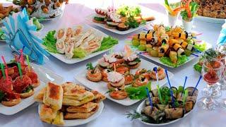 Праздничный СТОЛ на ДЕНЬ РОЖДЕНИЯ! Закуски Для Фуршета! ГОТОВЛЮ 10 блюд! ПРАЗДНИЧНОЕ МЕНЮ.