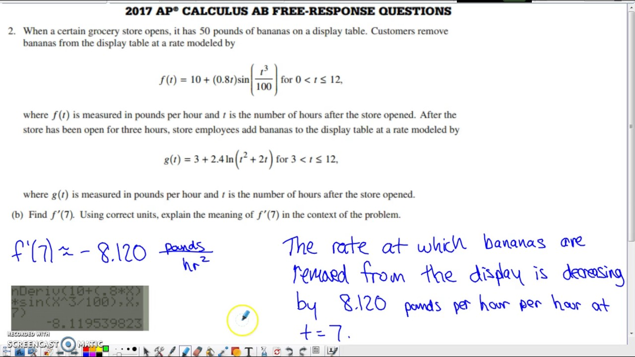Ap Physics 1 Free Response 2017 Answers