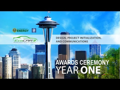 EcoCAR 3 Year 1 Awards Ceremony Live Event