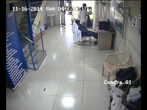 Live mobile theft vaught on cctv at bangalore city railway station emergency clinic platform 1