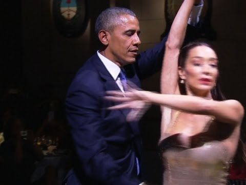 The Obamas Tango Dance at Argentine State Dinner