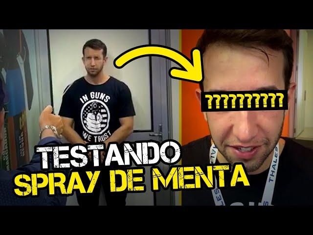 TESTANDO SPRAY DE MENTA NA CARA   TENENTE COIMBRA