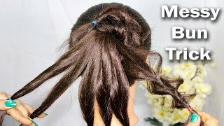 new latest messy bun hairstyles trick    easy hairstyle    hairstyle for girls    hairstyles