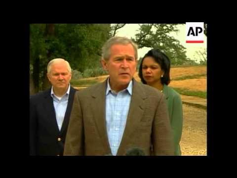 Bush hosts Iraq advisers at his Crawford, TX ranch today.