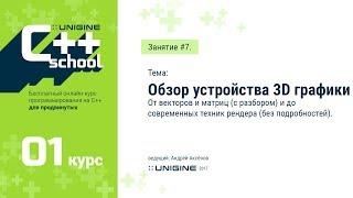 UNIGINE C++ School 1.1 - Лекция #7 - Основы 3D графики (бонусная лекция)