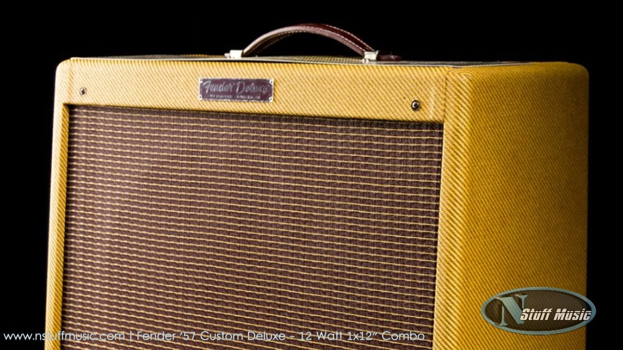 Fender Tweed Amp >> Fender 57 Custom Deluxe 12 Watt 1x12 Combo Tweed N Stuff Music