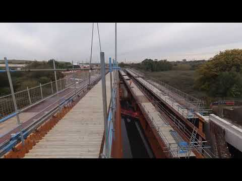 GoPro camera captures final beam being lifted into place