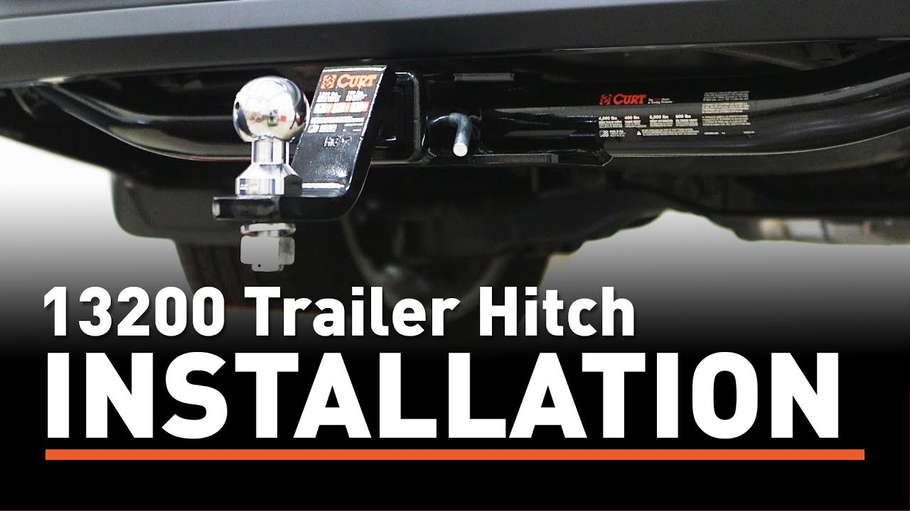 small resolution of trailer hitch install curt 13200 on a toyota highlander