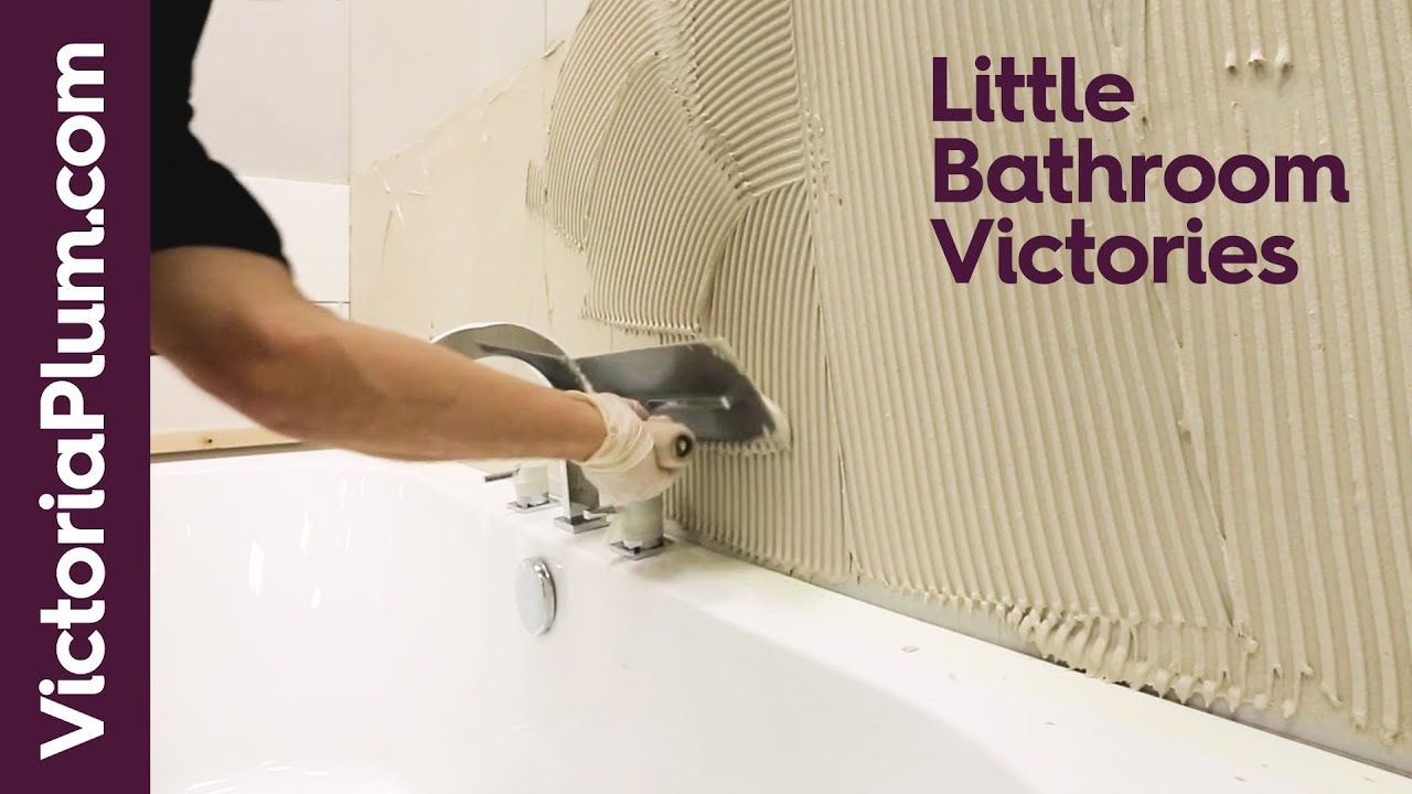 how to mix and apply wall tile adhesive tiling tips from victoriaplum com