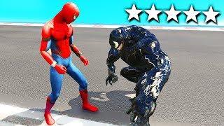 SPIDERMAN CONTRO VENOM SU GTA5!!!