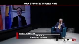 Report TV -Do ketë bashkëpunim me PDK? Kurti: Po flasim për një parti që dhe në opozitë ka pushtet