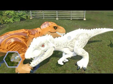 Lego Jurassic World - ALL DINOSAURS UNLOCKED & USED! ( Free Roam GamePlay )
