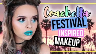 COACHELLA / Festival Inspired 🌴  Makeup Tutorial! (deutsch)