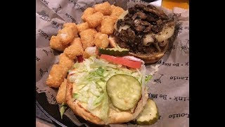Bar Louie's Philly Burger